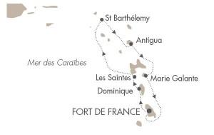 itinéraire croisère caraîbes